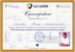 Сертификат №8